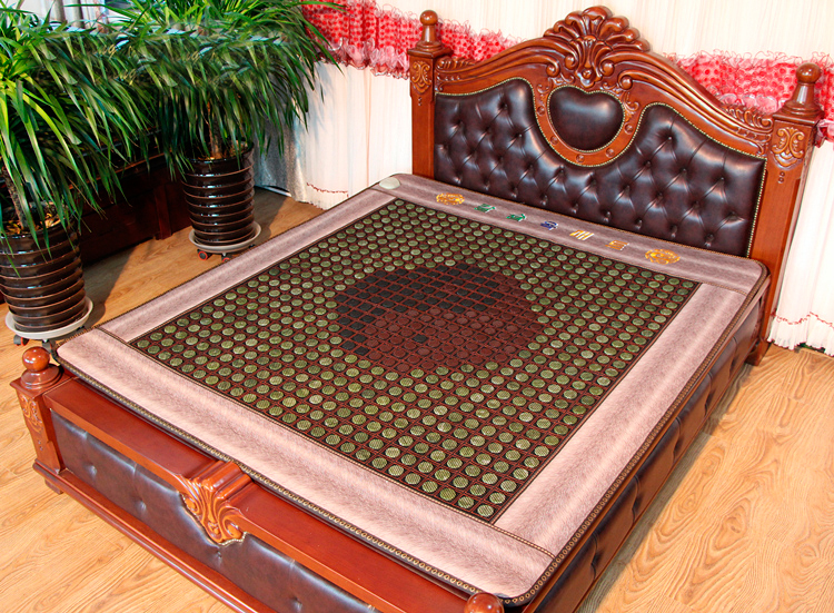 2016 New Arrival Heating Mattress Cushion Leather jade/tourmaline/germanite Bed Mattress Free Shipping 3 Size for You Choice household jade mattress heating electronic therapy chair cushion 8 design for your choice