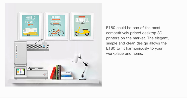 Geeetech E180 3D Printer With Full Colour Touch Screen And Wifi Connectivity 6