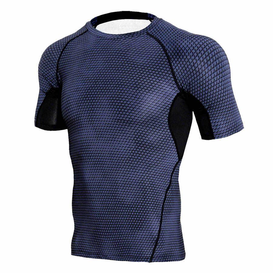 Rashgard Nén Shirt Chạy T Shirt Man Rắn Quy Mô 3D Sport Áo Tập Thể Dục Phòng Tập Thể Dục Top Thể Hình Thể Thao Áo Thun Jersey