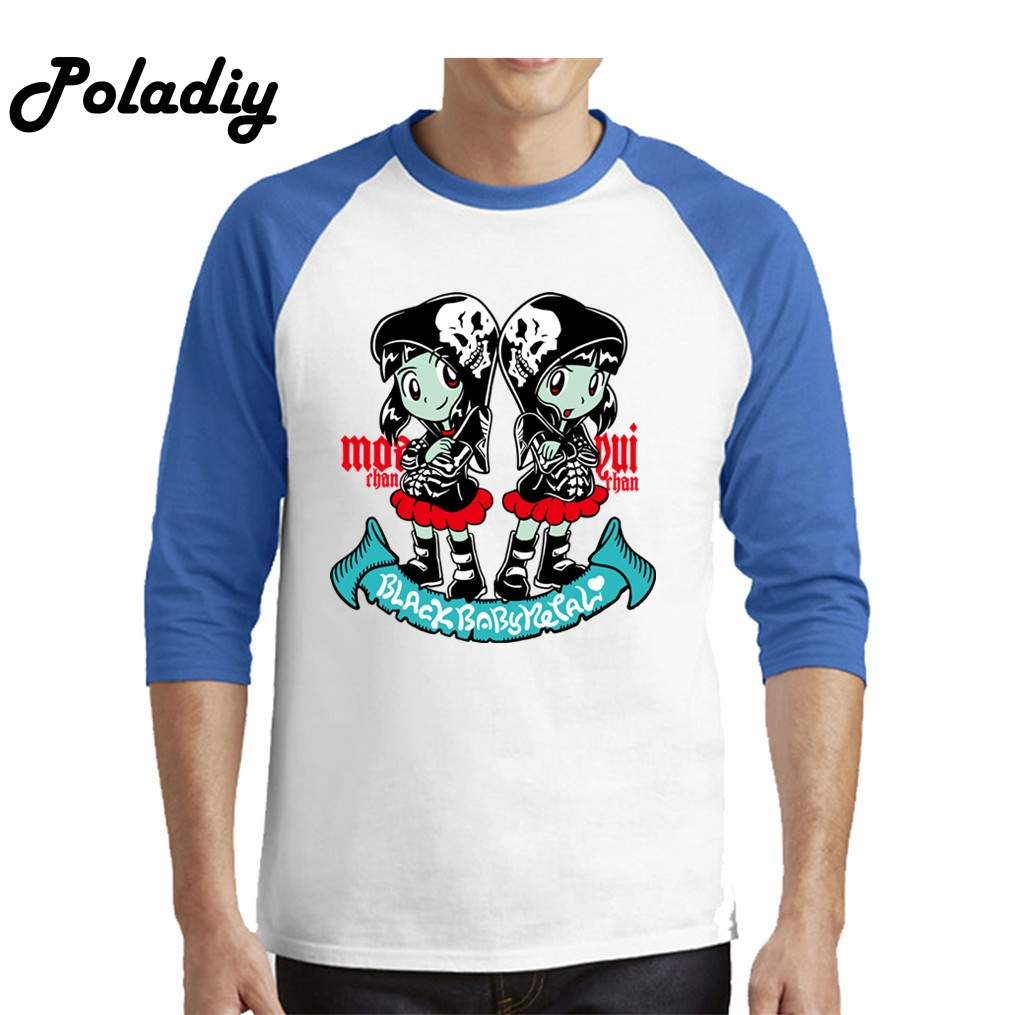 Babymetal Fan Art Men's Male Hip Hop Men Funny Tee Shirts Slim Fit Long Sleeve Shirt Boy Custom Party T Shirt Dropshipping