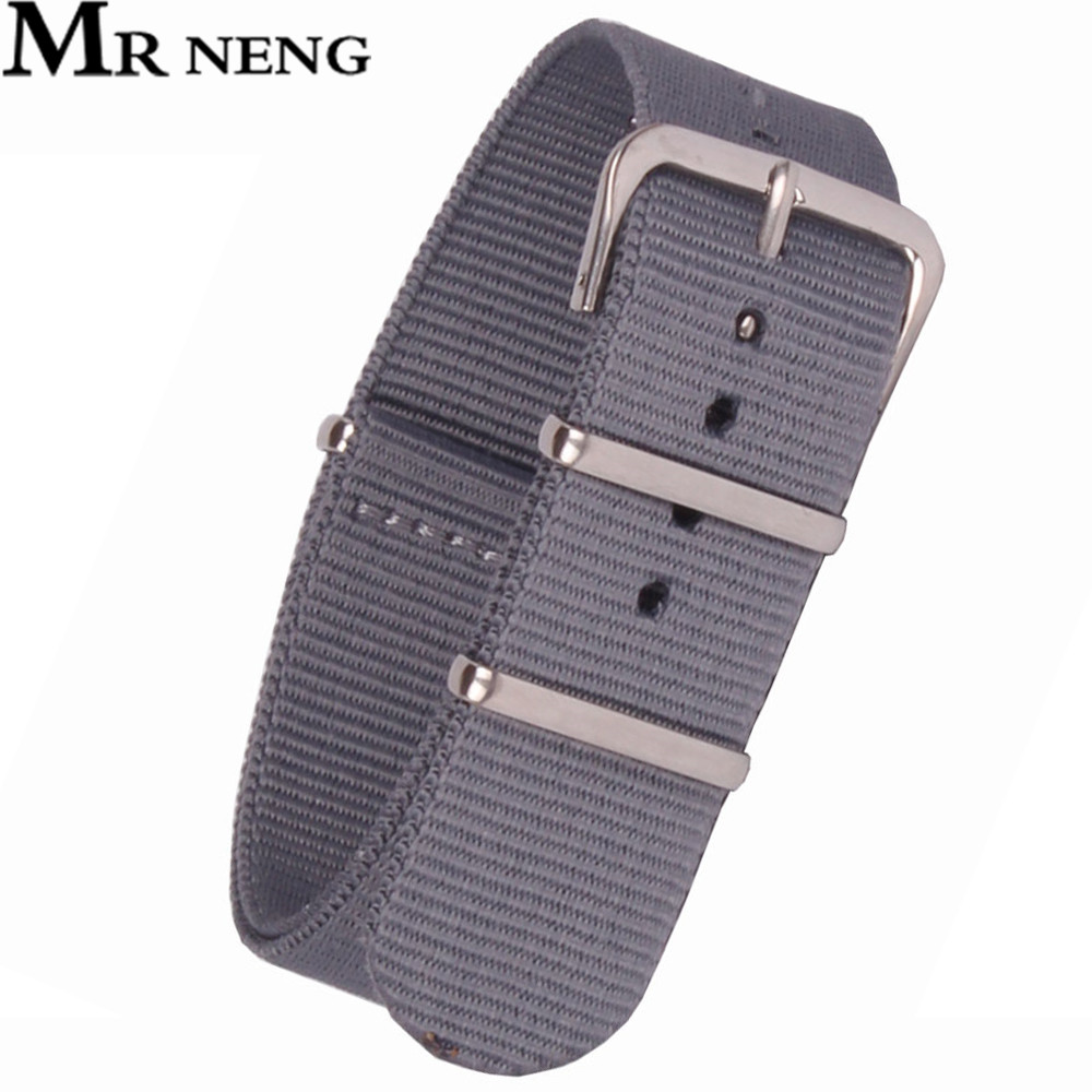 16 18 20 22 24mm Gris Armée Militaire Sport Nato montre sangle ceinture  Noir Nylon Tissé de Fiber bracelet 24mm Boucle remplacement 5a182968788