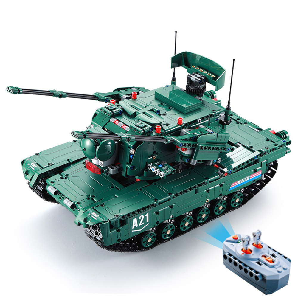 RC Tank C61001W 1498 PCS Building Blocks 1 20 Transformable M1A2 militaire Tank Vehicle RC Toys