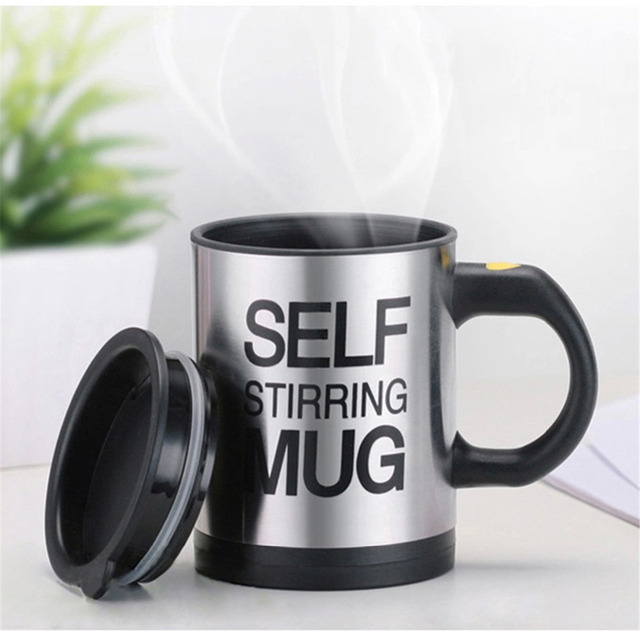 400ml Steel Electric Automatic Coffee Milk Mixing Cup Machine Tea Mug Cups Maker Handheld Kitchen Smart Mix Water Drinking Glass