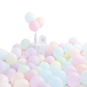 Image 5 - 100 개/몫 10 인치 마카롱 라텍스 풍선 웨딩 생일 장식 글로브 베이비 샤워 소녀 생일 파티 파스텔 풍선