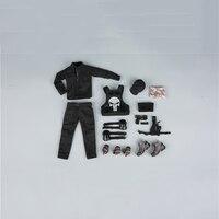 1/6 maßstab frauen VIP Sicherheit Team Schwarz Kleidung Set Modelle für 12 ''Weiblichen Action-figuren Körper