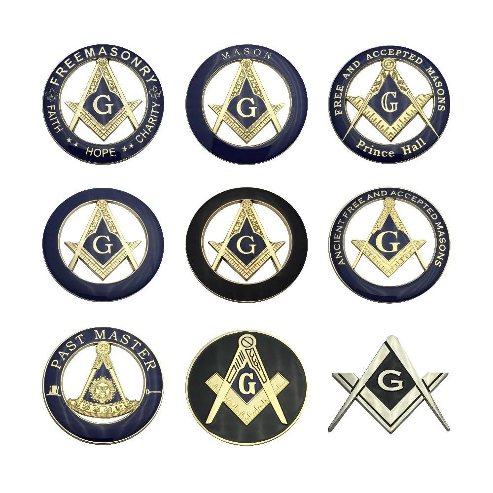 Masonic Emblem Mason Logo Metal Mailbox Flag Aluminum Painted CNC Art Decor