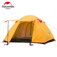 NatureHike Large Camping Tent 3 Person Ultralight Tents Outdoor Double Layer Waterproof Windproof 3 Seasons Hiking