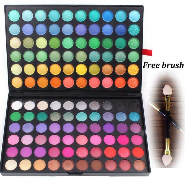 2016 nova Professional 120 Cores Neutral Matte Pigmento Maquiagem smoky Eyeshadow Camuflagem Facial Concealer Palette rosto blush