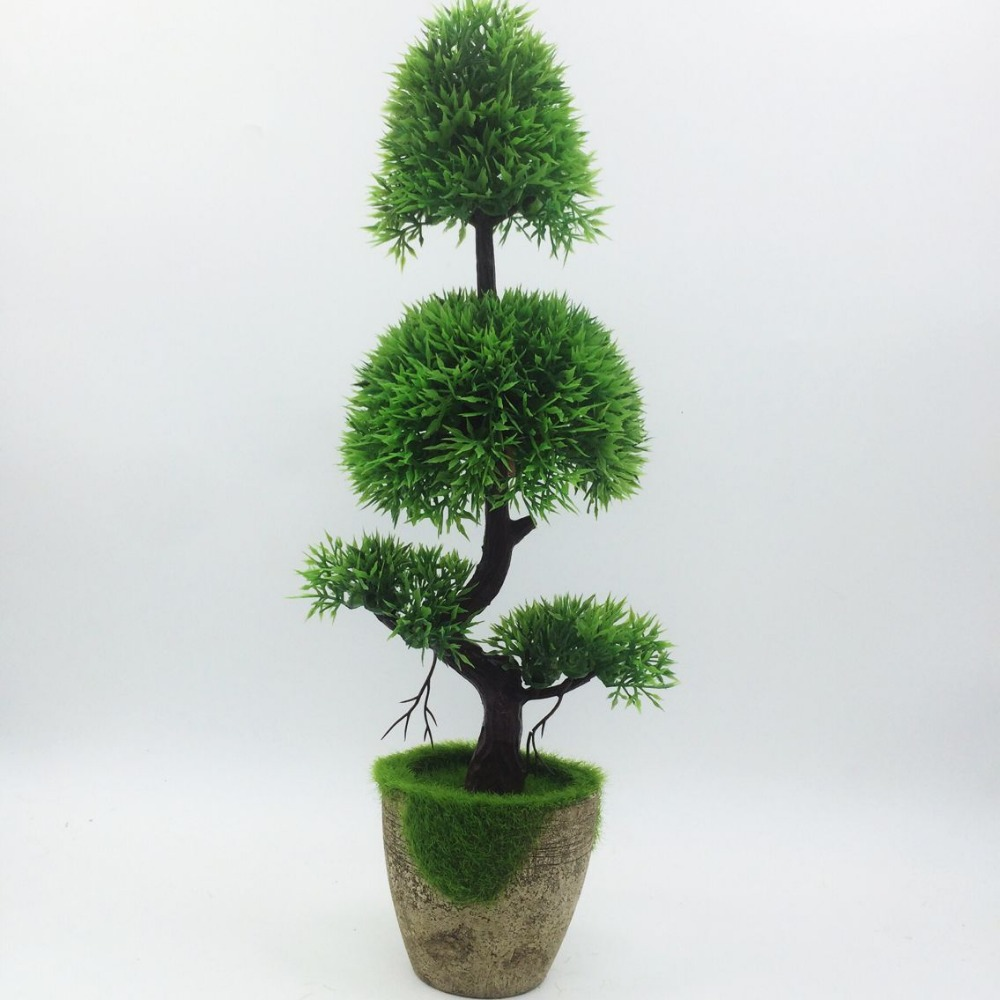 2017 Promotion Nya Konstgjorda Pine Bonsai Tree Till Salu Floral Decor Simulation Flores Artificiais Skrivbord Visa Fake Plants
