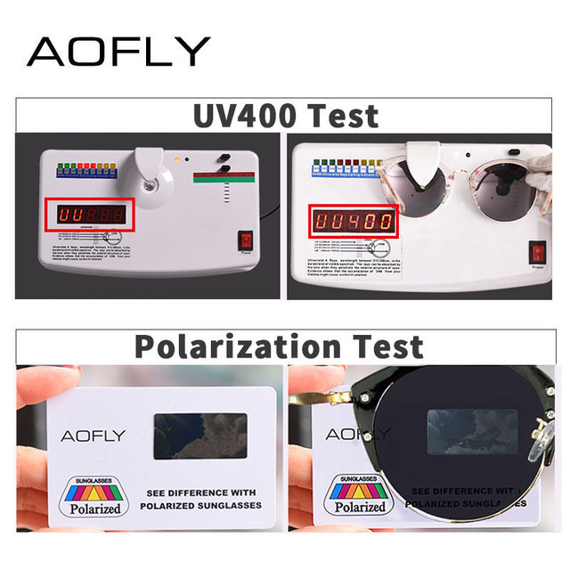 AOFLY Fashion Polarized Sunglasses Women Brand Designer Vintage Retro Cat Eye Sunglasses Female Half Frame Style Glasses A121 4