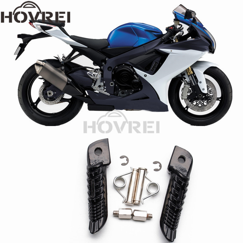 1pair Motorcycle Accessories Front Foot Pegs Footrest Pedals For Suzuki Gsxr600 Gsxr750 Gsxr1000 2001-2014 Keep You Fit All The Time