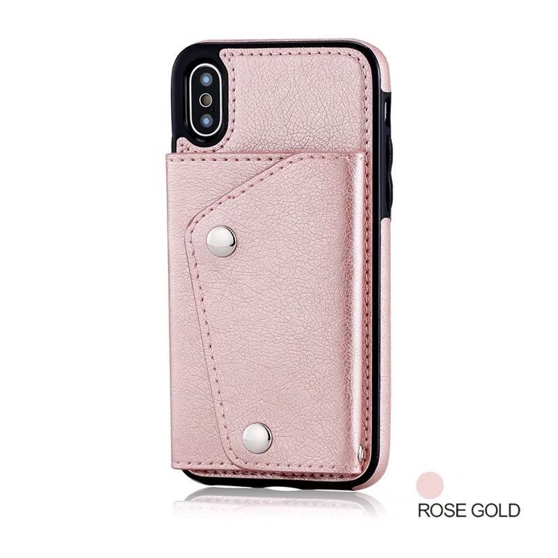 Luxury Cover for iPhone X Case Wallet Cards Slots (15)