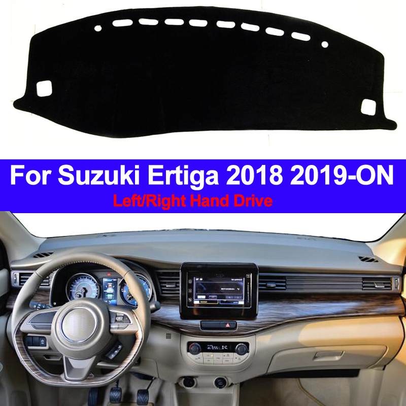 Car Auto Inner Dashboard Cover Dash Mat Cape Carpet Dashmat Pad Cushion 2 Layers For Suzuki Ertiga 2018 2019 - ON LHD RHD