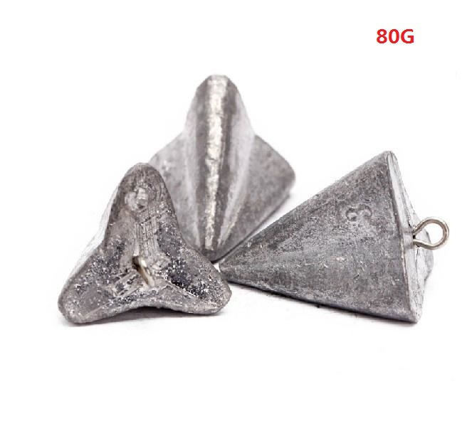 Free Shipping Pyramid Surf Fishing Lead Weights 2 oz Storm 35 Sinkers