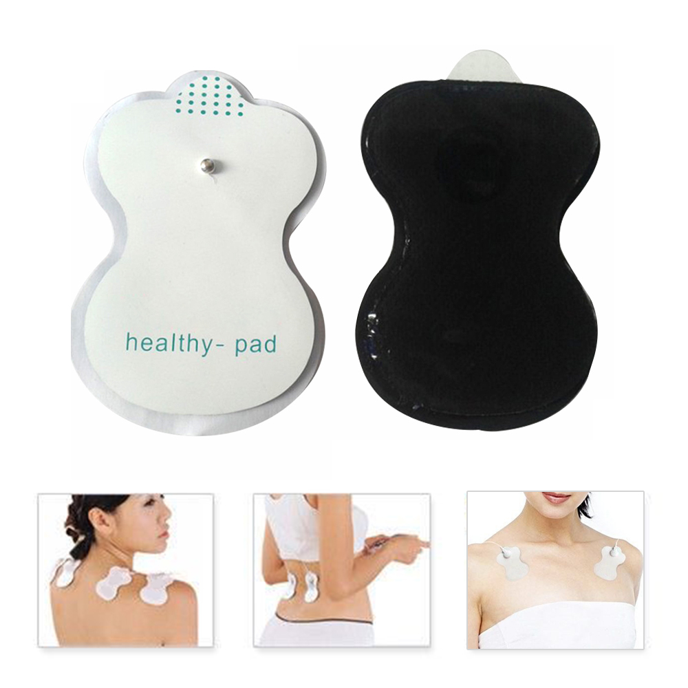 10/20pcs Tens Acupuncture Electrode Pads White Silicone Slimming Massager Tool Adhensive Gel Pad Digital Therapy Machine Health 20pcs electrode pads for digital tens therapy machine electronic cervical vertebra physiotherapy massager pad medium frequency