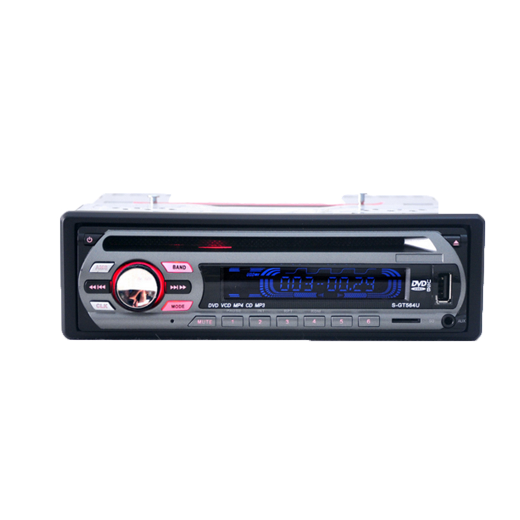 1Din 12V Car DVD Player Car Audio Multi Function Vehicle CD VCD Player with Remote Control MP3 Play car dvd cd mp3 player 12v car audio stereo support usb sd mp3 player aux dvd vcd cd player with remote control 2018 new