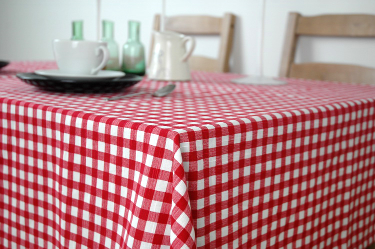 Europe Style Thick White And Red Plaid Tablecloth Home Use Plain Tablecloth  More Size Tablecloth In Tablecloths From Home U0026 Garden On Aliexpress.com ...