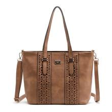 Femmes sac Dames Sac À Main En Creux Rivet pu cuir Messenger sacs sacs à main femmes célèbres marques femmes épaule sac fourre-tout sac