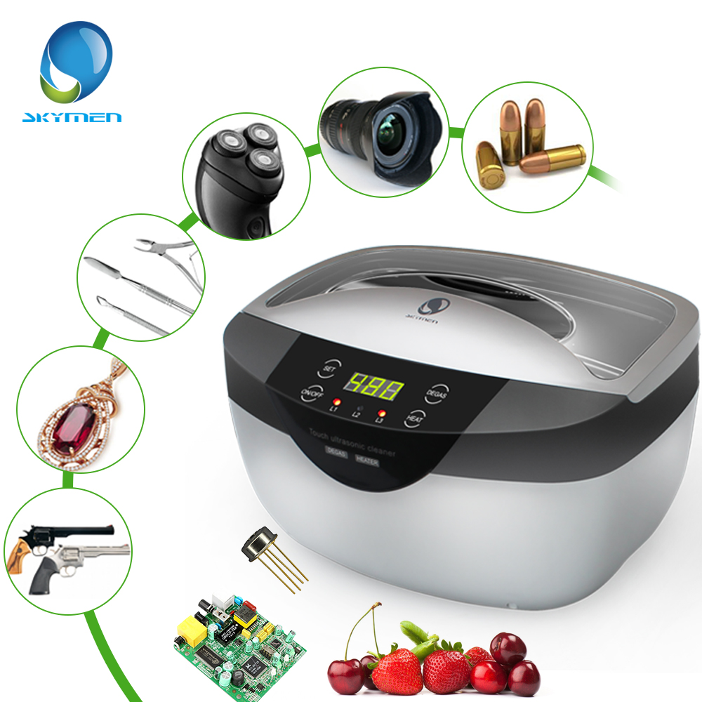 SKYMEN 2500mL Ultrasonic Cleaner Degas+- Digital Time Setting for Jewelry Stones Cutters Gold Silver Watches Glasses