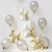 2018 Fashion Ainola Balloon Dog Plating Ceramic Resin Crafts Sculpture Statue Creative Gift Nordic ins Style Ornament