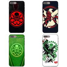 TPU Call Box For Galaxy A3 A5 A6 A6s A7 A8 A9 J1 Mini J2 J5 J6+ J7 Core Star Duo Max 2017 2018 Marvel Dc The Avengers Hail Hydra(China)