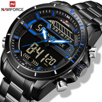 relojes hombre NAVIFORCE Mens Watches Top Luxury Brand Men Sport Watchs Men's Quartz LED Digital Clock Waterproof Military Watch