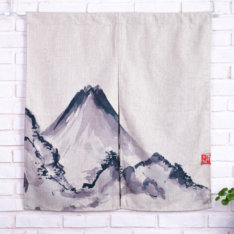 Landscape Painting Chinese Curtains Cotton