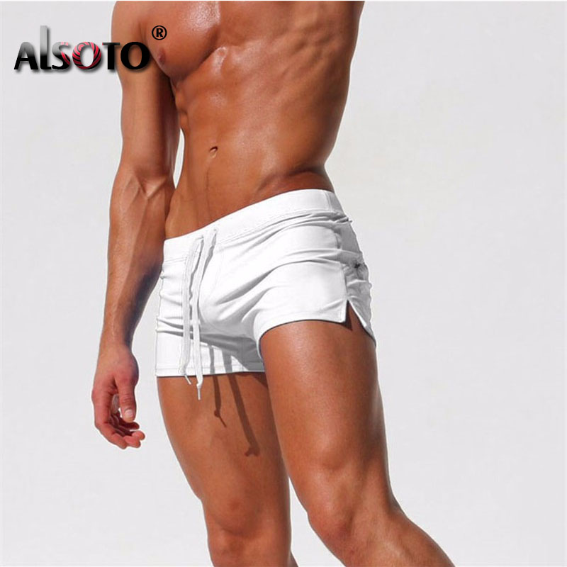 2019 Summer Sexy New Beach Shorts Men Swimsuit Casual Mens Shorts Gyms Sunga Swimwear Boardshorts Joggers Trunks Mayo Homme