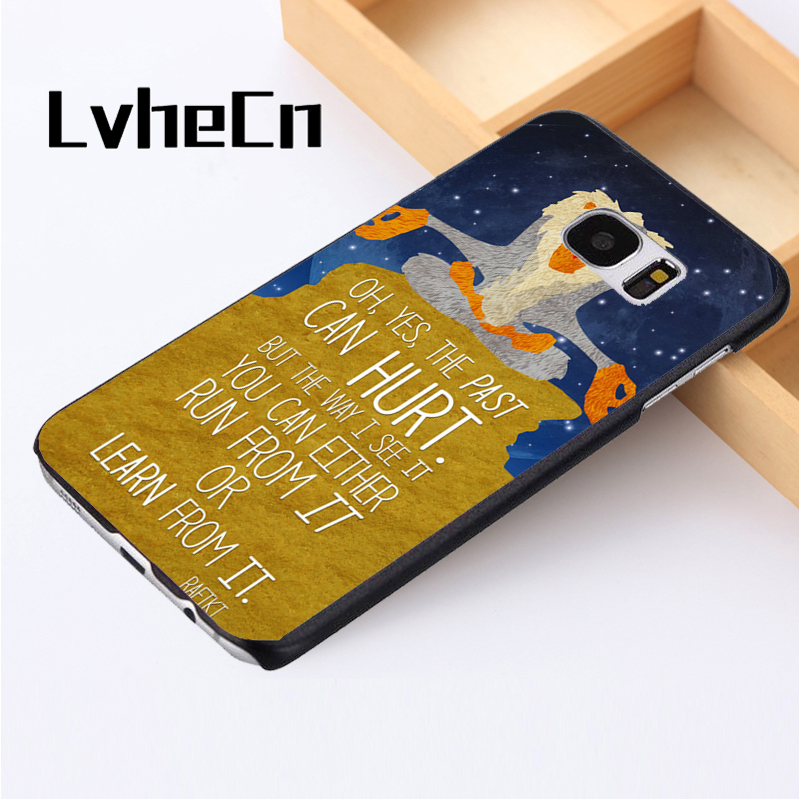 LvheCn phone case cover For Samsung Galaxy S3 S4 S5 mini S6 S7 S8 edge plus Note2 3 4 5 7 8 Lion King Wise Past Quote