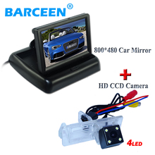 "ЖК-дисплей заднего монитора 4."" с 4 LED автомобиля резерв камера HD CCD для Renault Fluence/dacia duster /Megane 3/для nissan terrano"