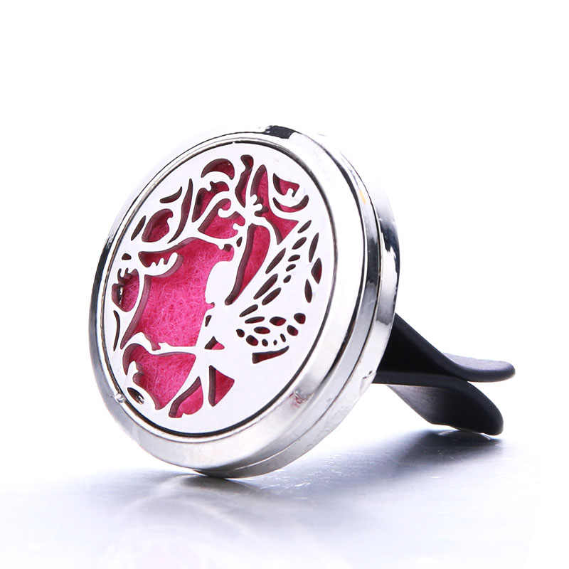 Silver Butterfly Fairy Perfume Diffuser Essential Oil Diffuser Car Air Outlet Freshener Stainless Steel Decoration Aroma Locket