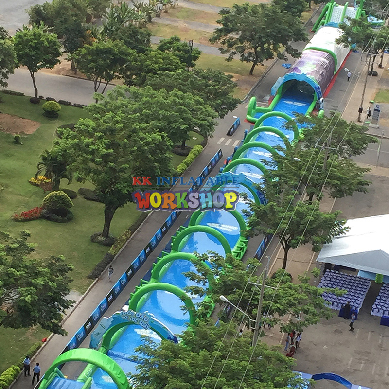 Extra long inflatable water slide Community Garden City