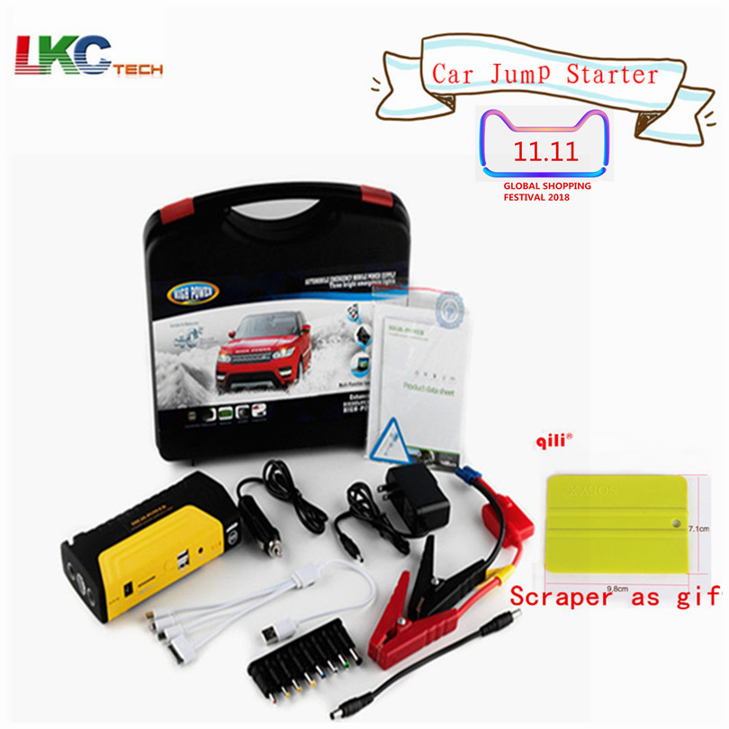Top Selling! Emergency Car Charger 50800 Car Jump Starter Portable Mini Car Starter Booster 12V High Power Bank best selling car jump starter 50800mah emergency starter 12v portable mini engine booster car power bank booster charger