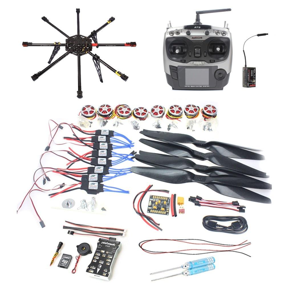JMT DIY GPS Drone Carbon Fiber 8-axis Aircraft PX4 2.4.8 Flight Controller APM2.6 GPS 350KV Motor 40A ESC Radiolink AT9