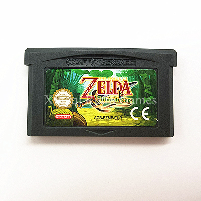 Nintendo GBA Game The Legend of Zelda The Minish Cap Video Game Cartridge Console Card ENG/FRA/DEU/ESP/ITA Language [50set lot] for nintendo gameboy series game cartridge housing shell replacing cover case for gb gbc gba sp