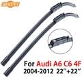 QEEPEI Limpiaparabrisas Para Audi A6 4F C6 2004-2012 22 ''+ 22'' Limpiaparabrisas Hoja de Accesorios de Auto Precios de parabrisas, CPK101