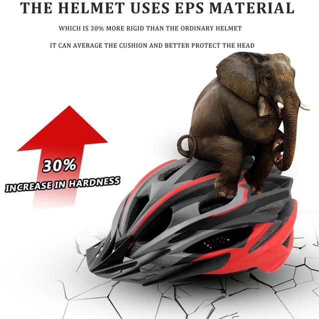 Phmax capacete ultraleve para ciclistas, 2020, capacete de ciclismo com cobetura eps + pc para bicicletas de montanha, mtb e estrada, moldado integralmente tampa segura 6