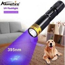 ALONEFIRE SV317 395nm UV Ultraviolet flash light Cat Dog Animal urine Money Hotel Detector lamp UV led flashlight AA battery