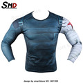 High Quality 2016 Marvel Captain America 3 Winter Soldier Costume 3d Super Hero Jersey Long Sleeves Camisetas T Shirt Men
