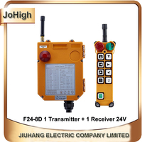Factory Supply IP65 degree Industrial remote controller Hoist Crane Control Lift Crane 1 transmitter + 1 receiver F24 8D
