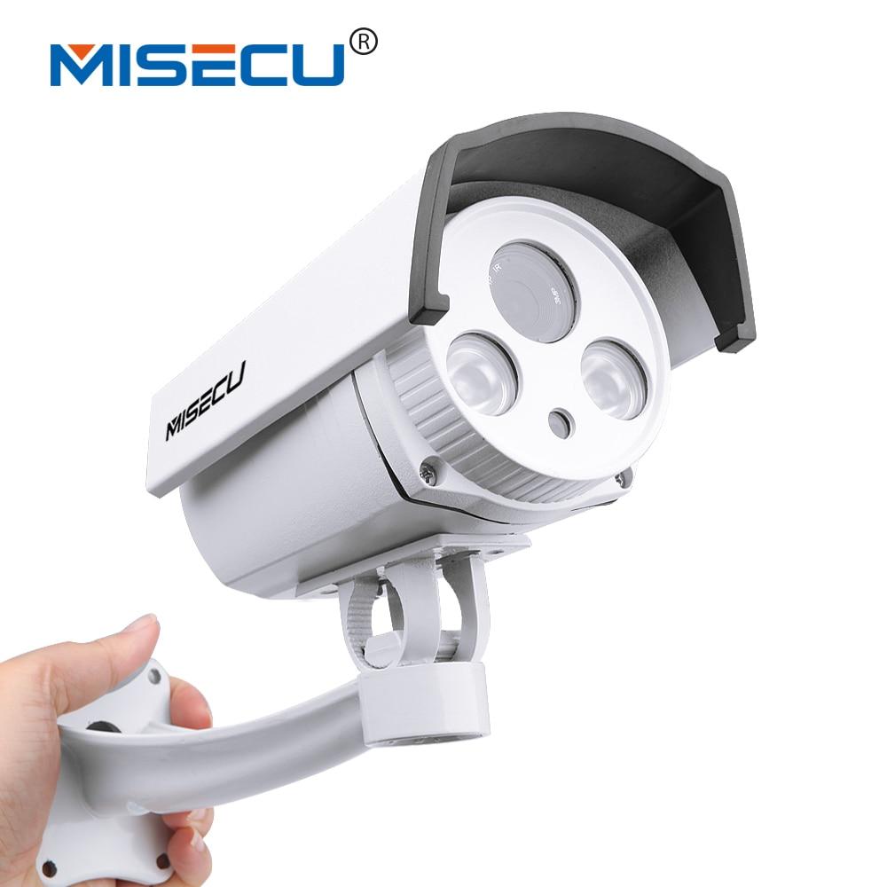 MISECU H.265 5MP 2592*1944 Hi3516A SONY imx178 WDR IP Cam Array Night 48V POE option Motion RTSP Metal Outdoor Surveillance Cam ...