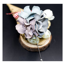 cotton flower brooch pins for men 2017 ZHONGLV large flowers brooch for women long pins badge wedding brooches female jewelry