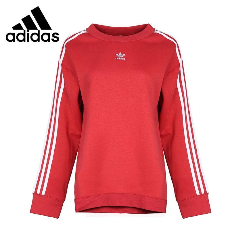 Original New Arrival 2018 Adidas Originals CREW SWEATER Women's Pullover Jerseys Sportswear pullover santa applique crew neck sweater