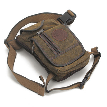 Men Canvas Waist Drop Leg Bag Thigh Hip Belt Bum Fanny Pack Military Tactical Travel Riding Motorcycle Messenger Shoulder Bags 4