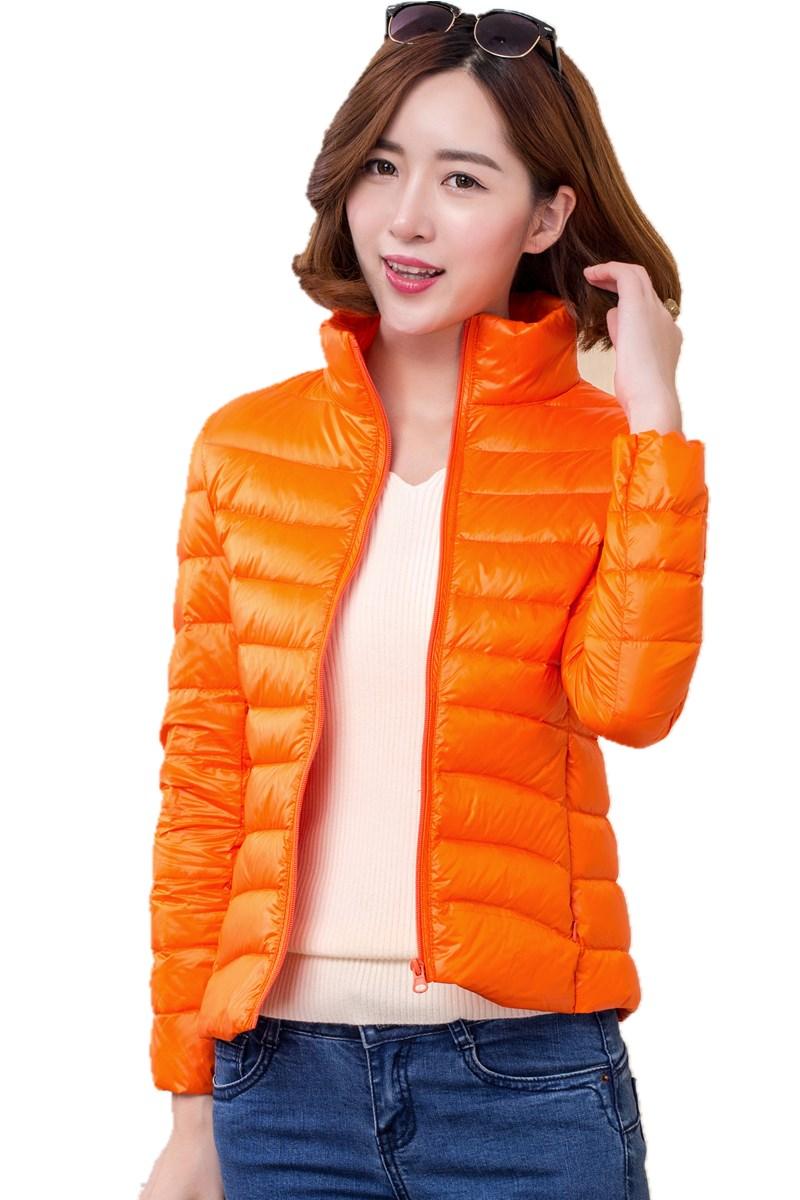 2017 women ultra light   down   jacket winter duck   down   jackets women slim thin long sleeve parka zipper   coats   pockets solid