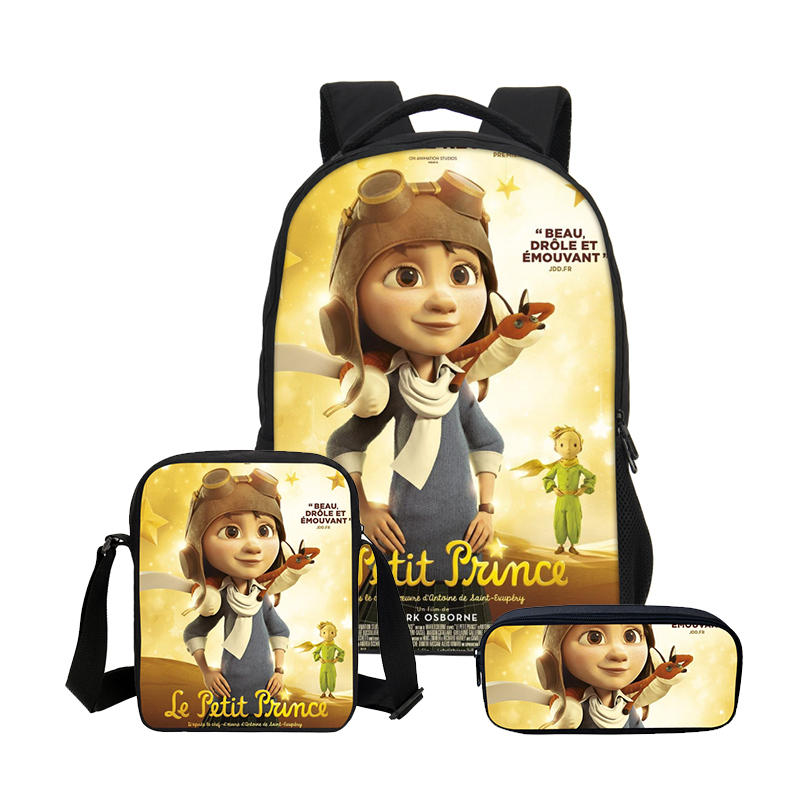 2019 Fashion 3 Pcs Set Kids Girls Cartoon The Little Prince Schoolbags Cute Kids School Backpacks