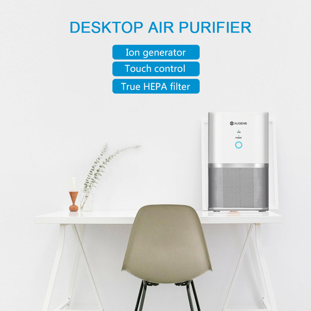AUGIENB Air Purifier ionizer True Hepa Filter, Odor Allergies Eliminator for Smokers, Dust, Mold, Formaldehyde Home Pets Cleaner 5