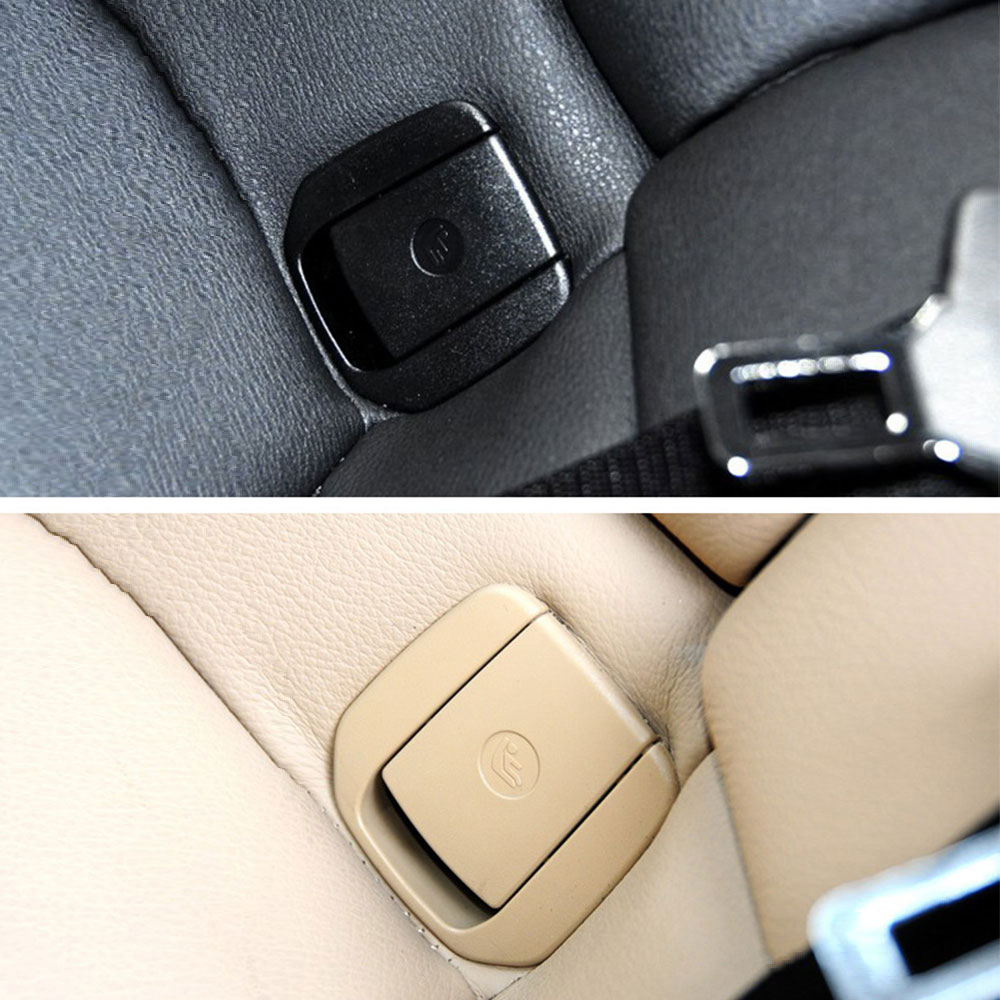 Black / Beige Car Rear Seat Hook Cover Child Restraint For For BMW X1 E84 3 Series E90/F30 1 Series E87