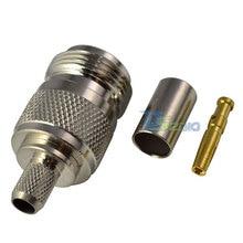 Высокое качество N женский прямой обжимной для RG6 RG59 LMR240 кабель RF коаксиальный разъем адаптера