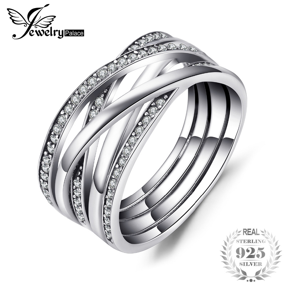 Infinity Wedding Band.Us 14 99 40 Off Jewelrypalace 925 Sterling Silver Rings Cosmic Lines Statement Ring Wedding Band Infinity Love Fine Jewelry Anniversary Gfits In